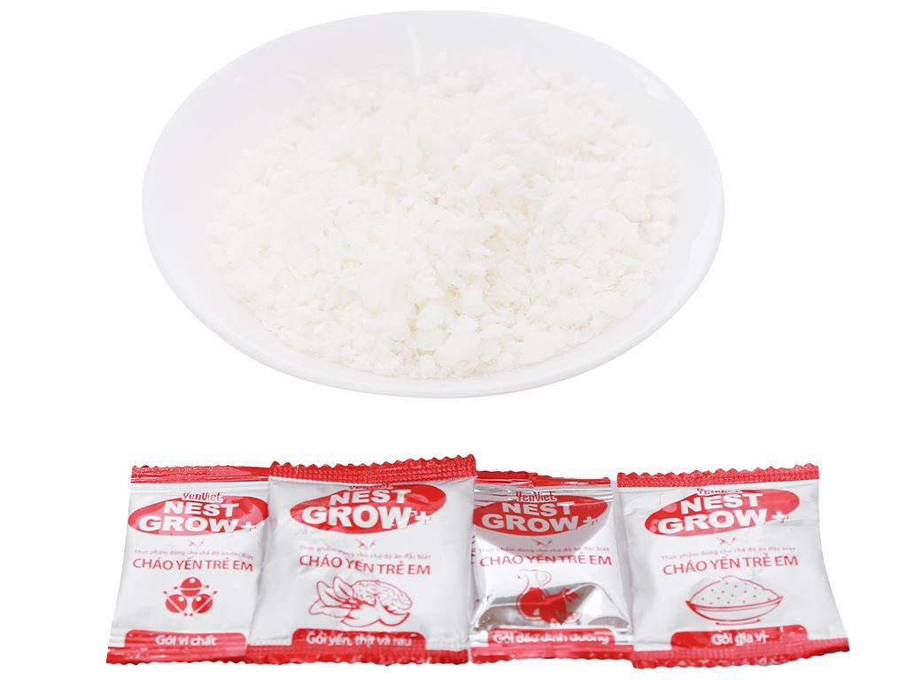 Cháo yến trẻ em Yến Việt Nest Grow+ thịt bằm rau củ gói 50g 4