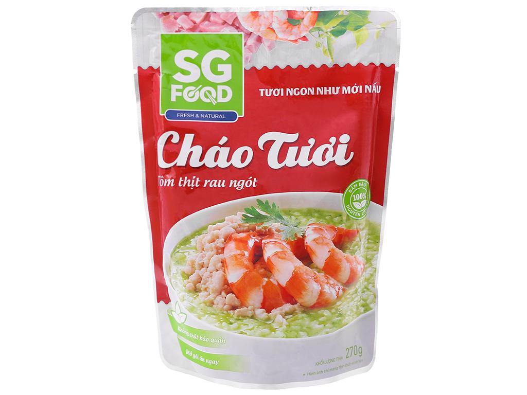 Cháo tươi SG Food vị tôm thịt rau ngót gói 270g 1