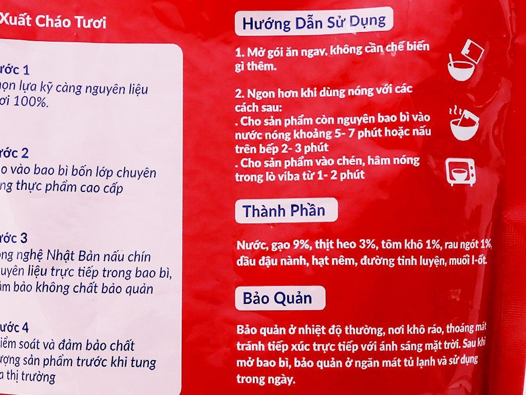 Cháo tươi SG Food tôm thịt rau ngót gói 270g 3