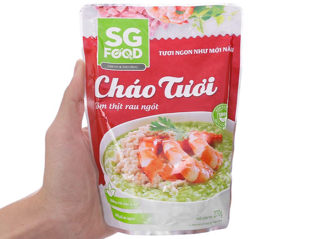 Cháo tươi SG Food tôm thịt rau ngót gói 270g 5