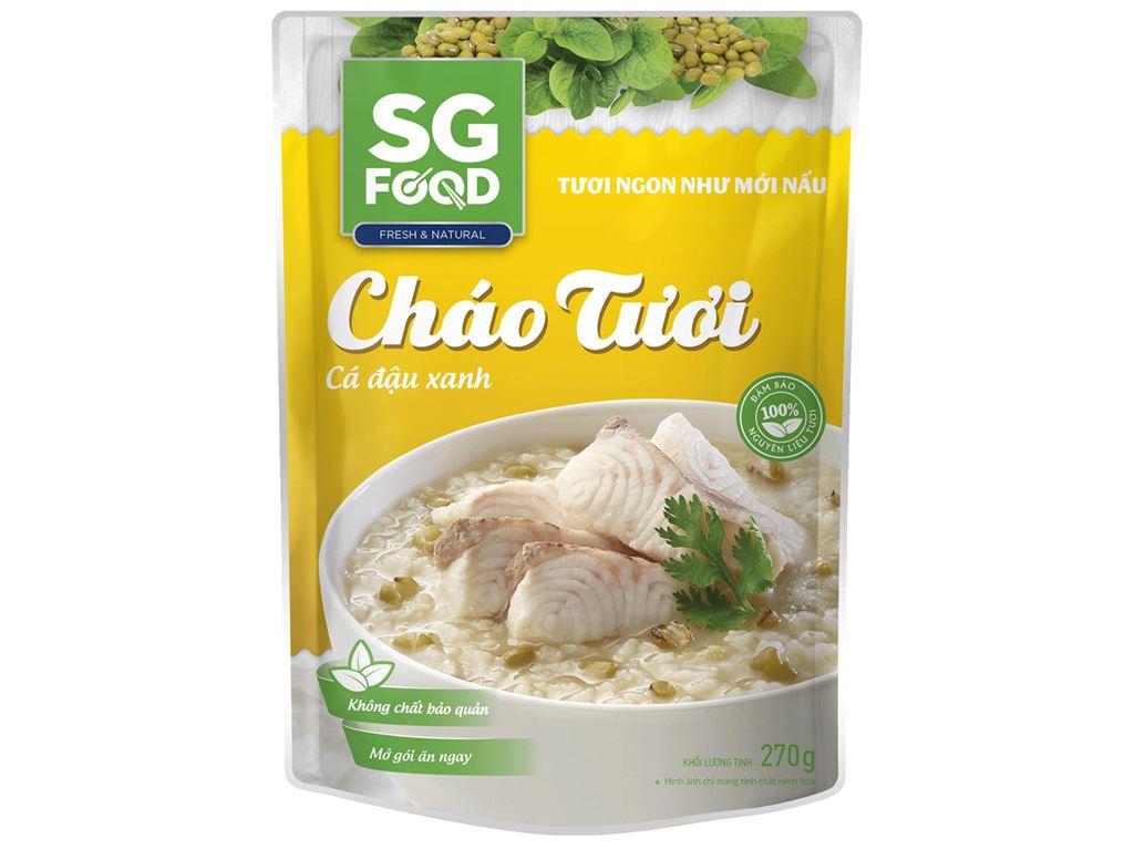 Cháo tươi SG Food cá đậu xanh gói 270g 1