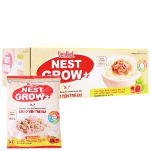 Thùng 30 gói cháo yến trẻ em thịt bằm rau củ Yến Việt Nest Grow+ 50g