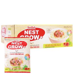 Thùng 30 gói cháo yến trẻ em bò bằm bó xôi Yến Việt Nest Grow+ 50g
