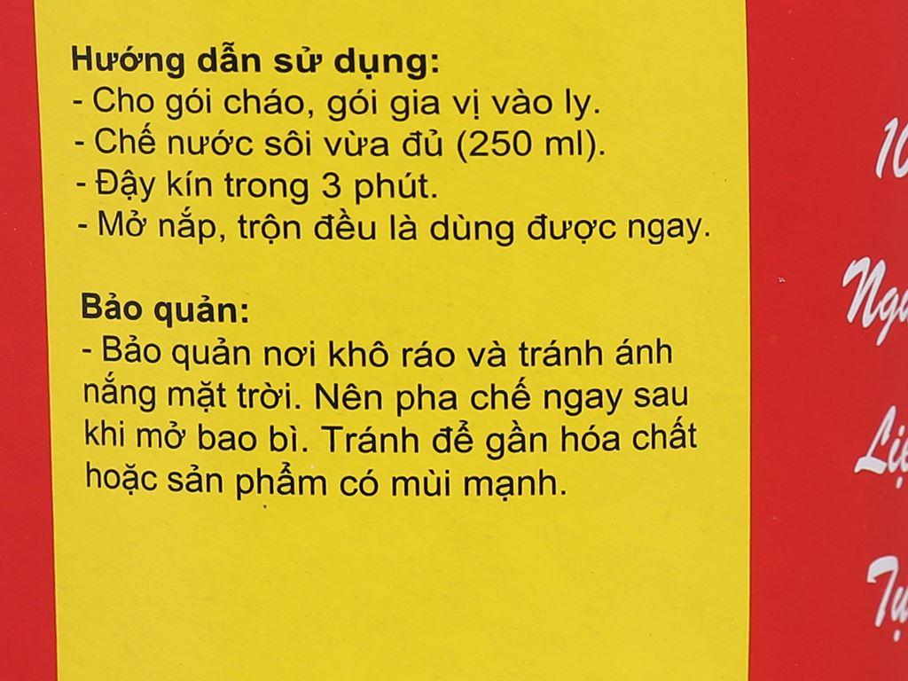 Cháo dưỡng sinh yến mạch Tâm Minh ly 43g 6