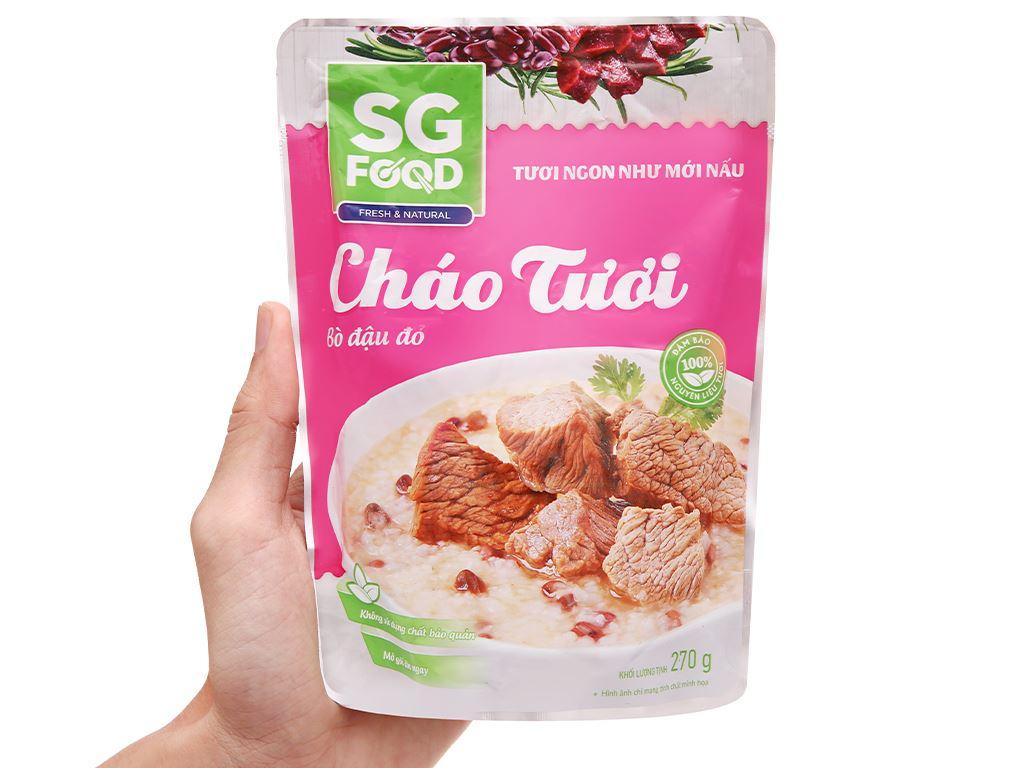 Cháo tươi bò đậu đỏ SG Food gói 270g 4