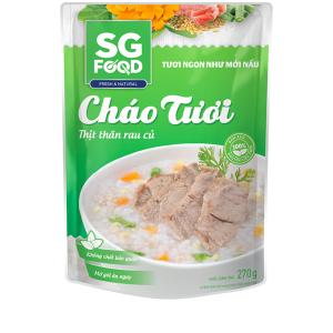 Cháo tươi thịt thăn rau củ SG Food gói 270g