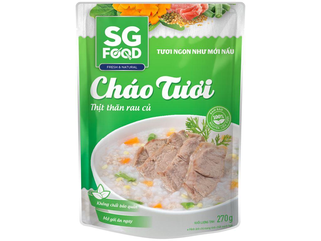 Cháo tươi thịt thăn rau củ SG Food gói 270g 1