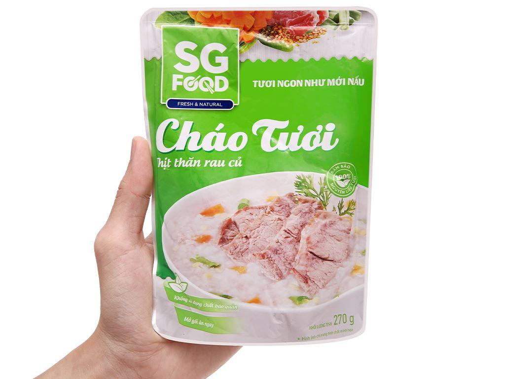 Cháo tươi thịt thăn rau củ SG Food gói 270g 5