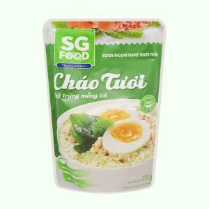 Cháo tươi SG Food thịt trứng mồng tơi gói 270g