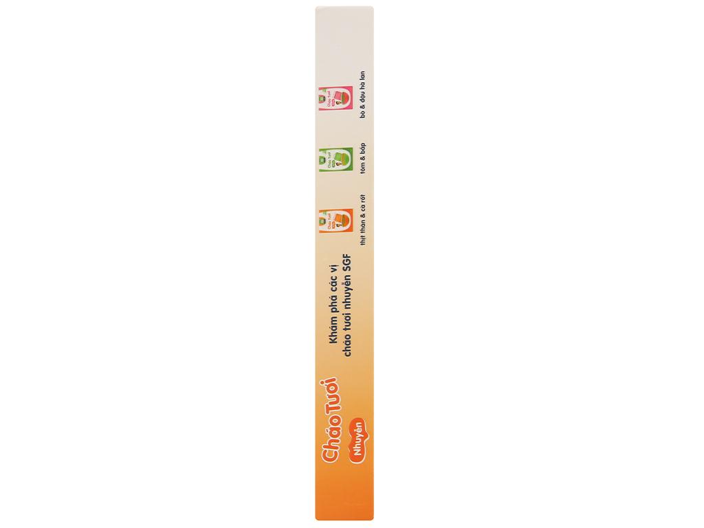 Cháo tươi trẻ em SG Food nhuyễn thịt thăn cà rốt hộp 150g 5