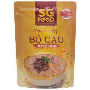 Cháo bổ dưỡng SG Food bồ câu yến mạch hạt sen gói 240g