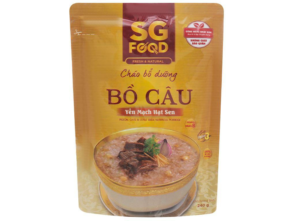 Cháo bổ dưỡng SG Food bồ câu yến mạch hạt sen gói 240g 1