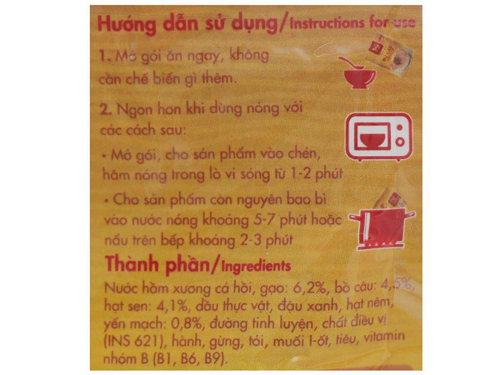 Cháo bổ dưỡng SG Food bồ câu yến mạch hạt sen gói 240g 4