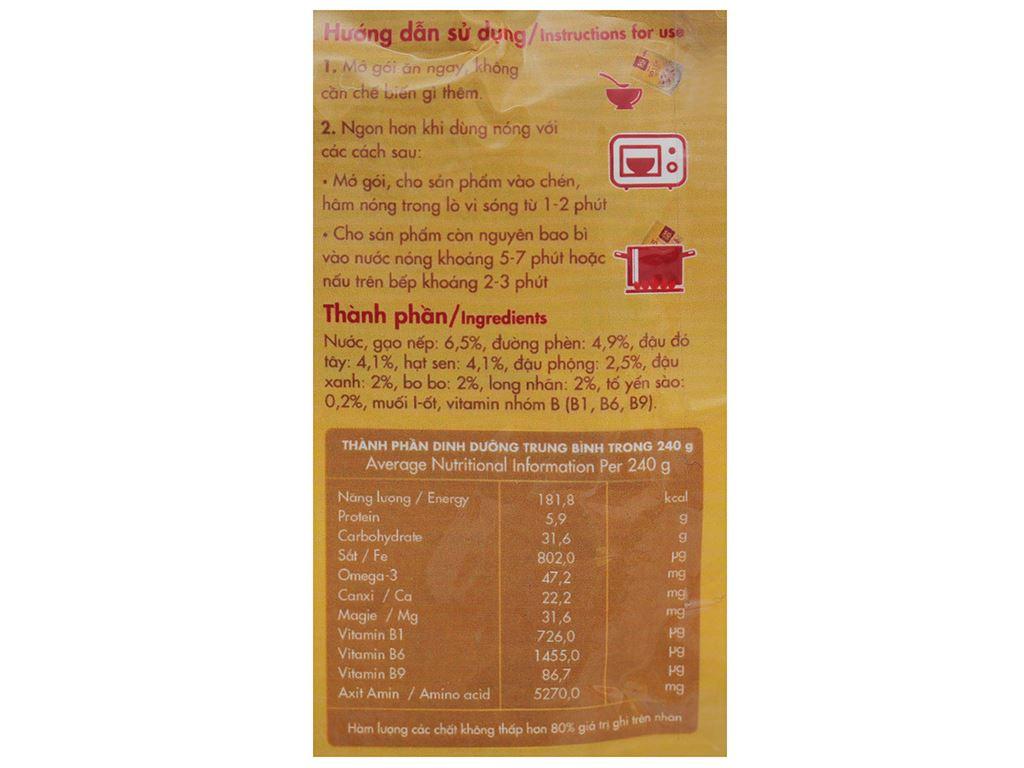 Cháo bổ dưỡng SG Food tổ yến bát bảo gói 240g 4