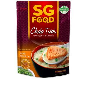 Cháo tươi SG Food cá hồi đậu Hà Lan gói 270g