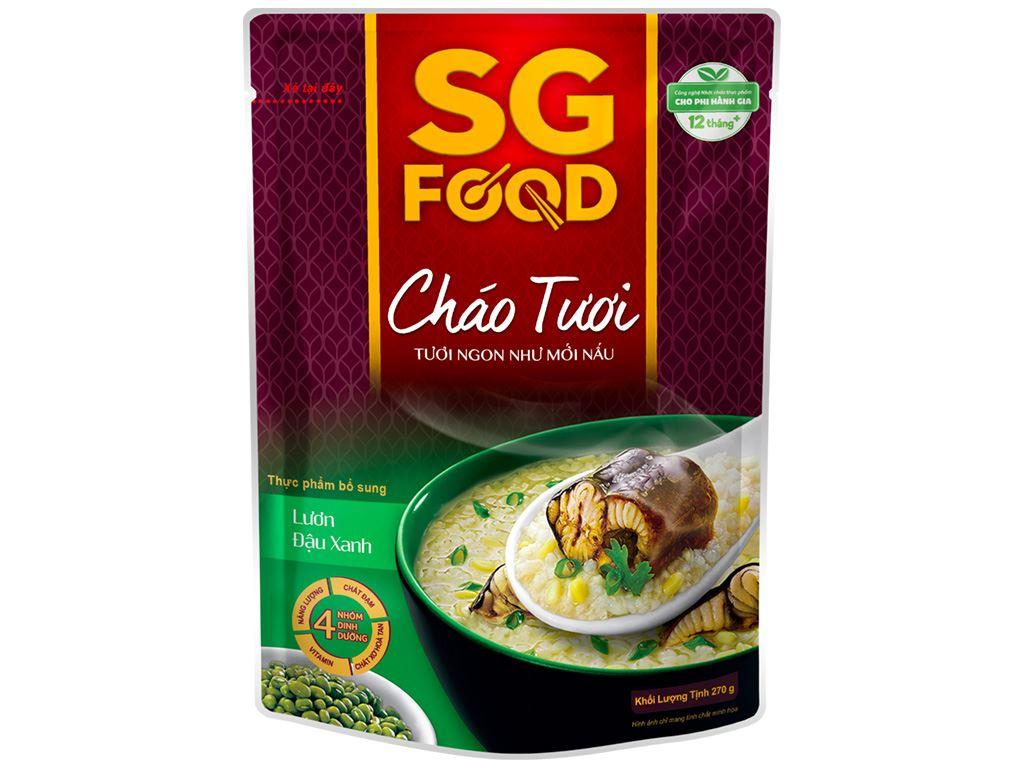 Cháo tươi SG Food lươn đậu xanh gói 270g 3