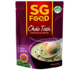 Cháo tươi SG Food cá lóc cải bó xôi gói 270g