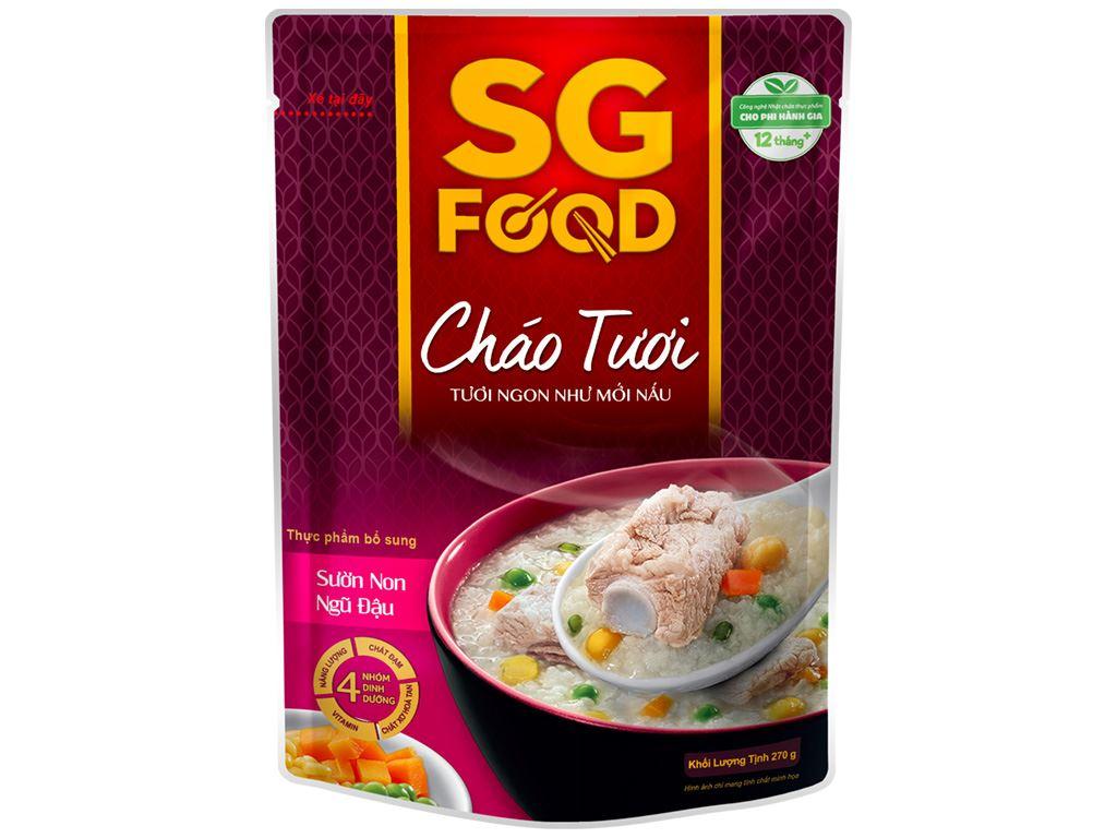 Cháo tươi SG Food sườn non ngũ đậu gói 270g 1