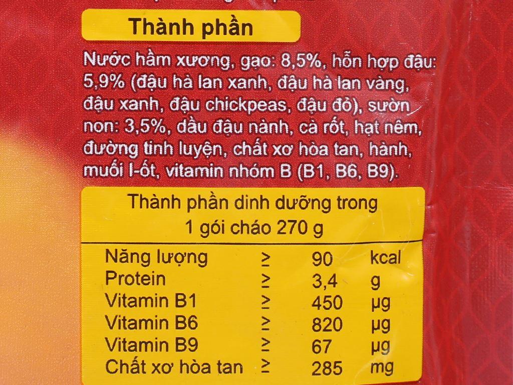 Cháo tươi SG Food sườn non ngũ đậu gói 270g 3