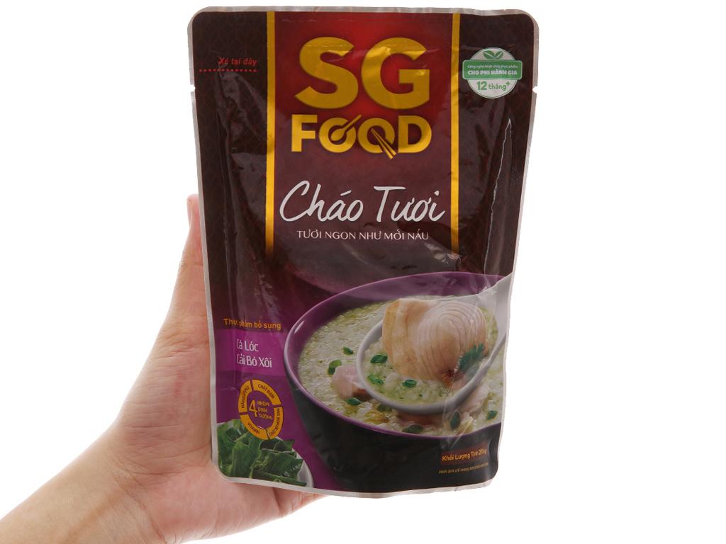 Thùng 30 gói cháo tươi cá lóc cải bó xôi SG Food 270g 3