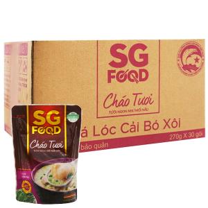 Thùng 30 gói cháo tươi cá lóc cải bó xôi SG Food 270g