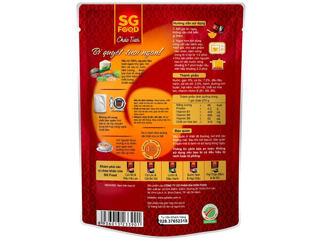 Thùng 30 gói cháo tươi SG Food cá lóc cải bó xôi 270g 3