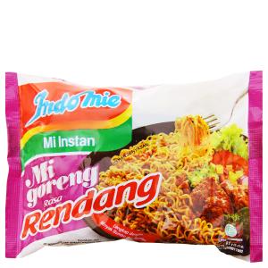 Mì xào khô Indomie Goreng Rendang bò cay gói 91g