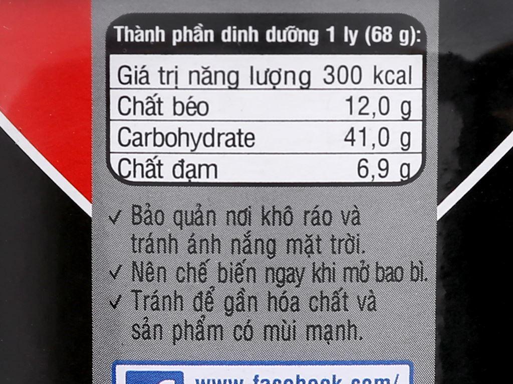 Mì Handy Hảo Hảo thịt bằm bí đỏ ly 68g 9