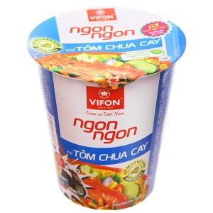 Mì Vifon Ngon Ngon tôm chua cay ly 60g