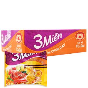 Thùng 30 gói Mì 3 Miền tôm chua cay 60g