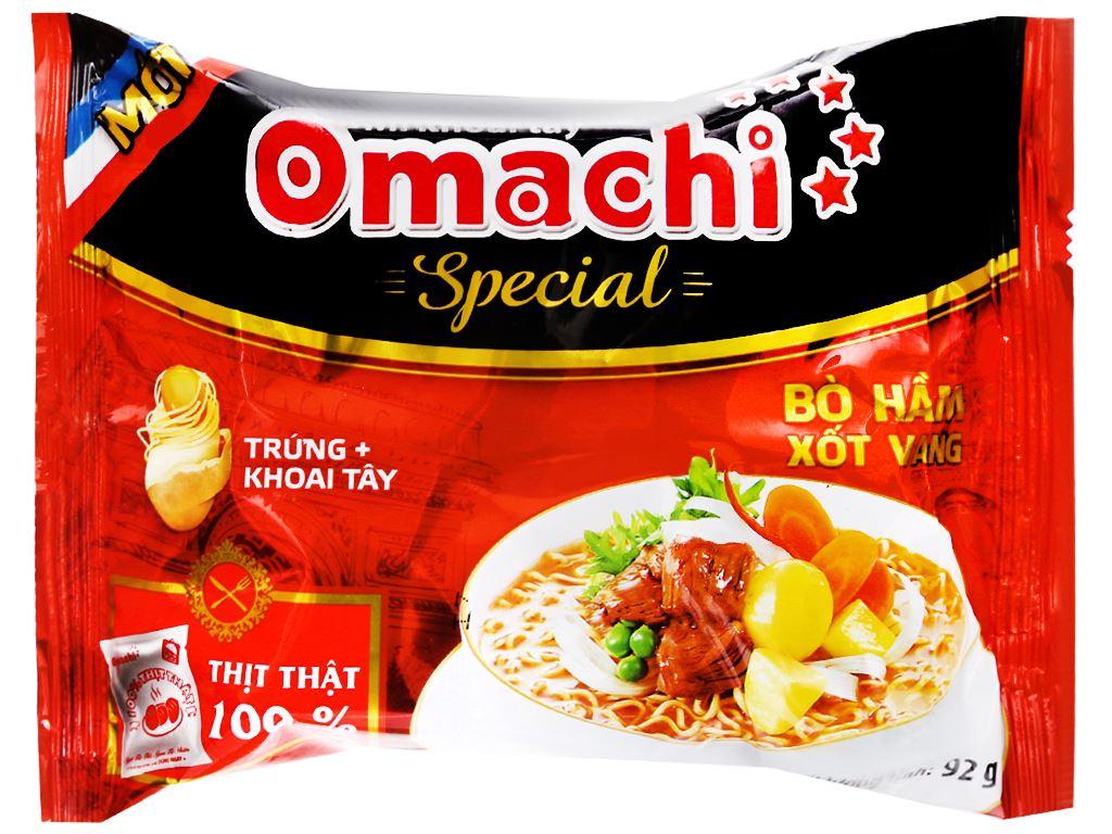 Mì khoai tây Omachi Special vị bò hầm xốt vang gói 92g 4