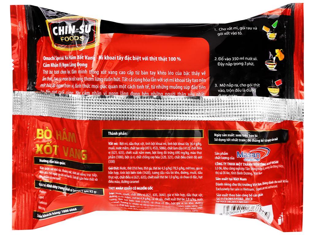 Mì khoai tây Omachi Special vị bò hầm xốt vang gói 92g 5