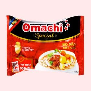 Mì khoai tây Omachi Special bò hầm xốt vang gói 92g