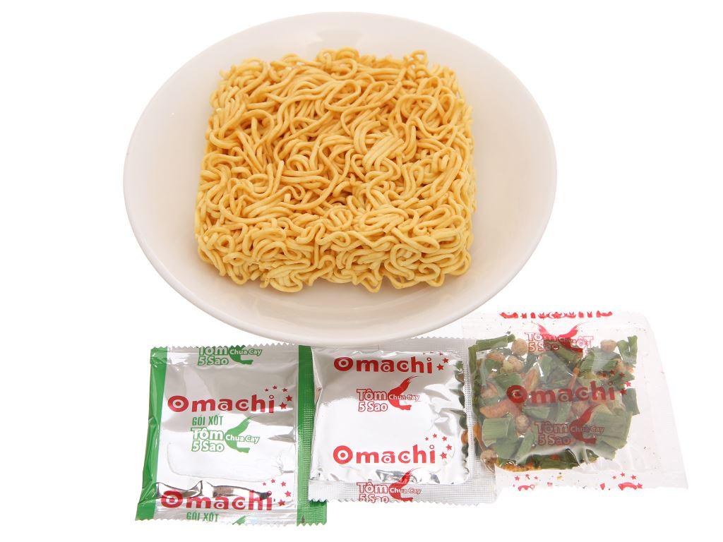 Mì khoai tây Omachi tôm chua cay 5 sao gói 78g 3