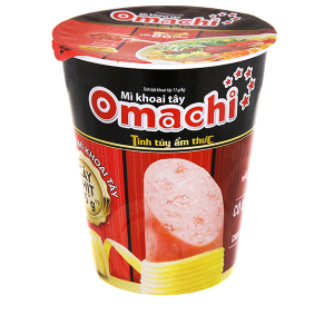 Mì khoai tây Omachi xốt bò hầm ly 113g (có cây thịt thật)