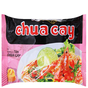 Mì khoai tây Omachi Lovemi tôm chua cay gói 75g