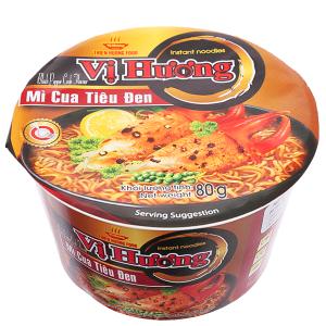 Mì Vị Hương cua tiêu đen tô 80g