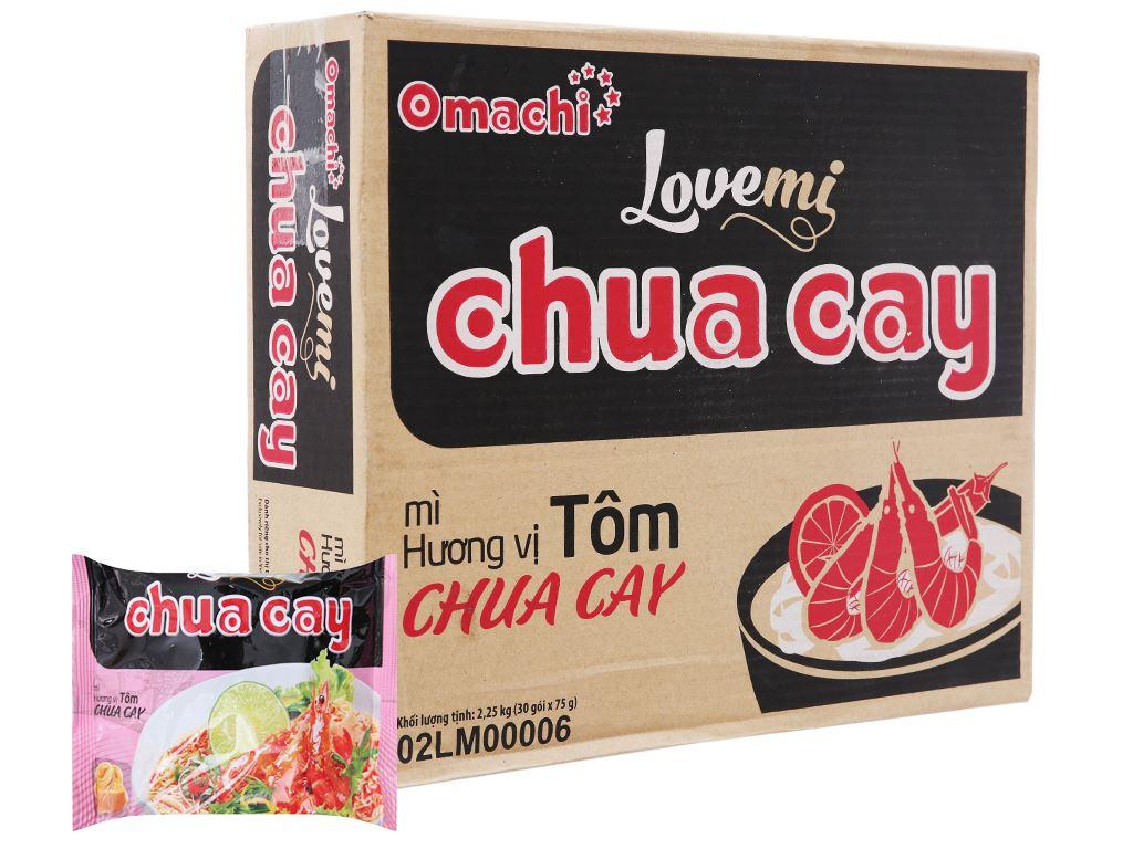 Thùng 30 gói mì khoai tây Omachi Lovemi tôm chua cay 75g 1