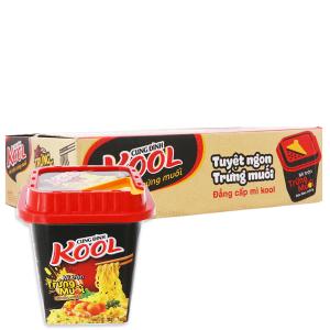Thùng 12 tô Mì trộn Cung Đình Kool trứng muối 90g