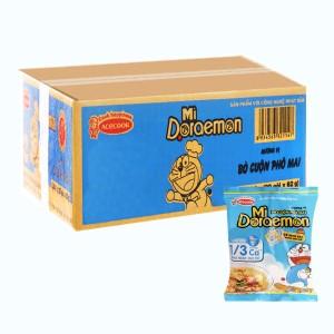 Thùng 30 gói mì Doraemon bò cuộn phô mai 62g