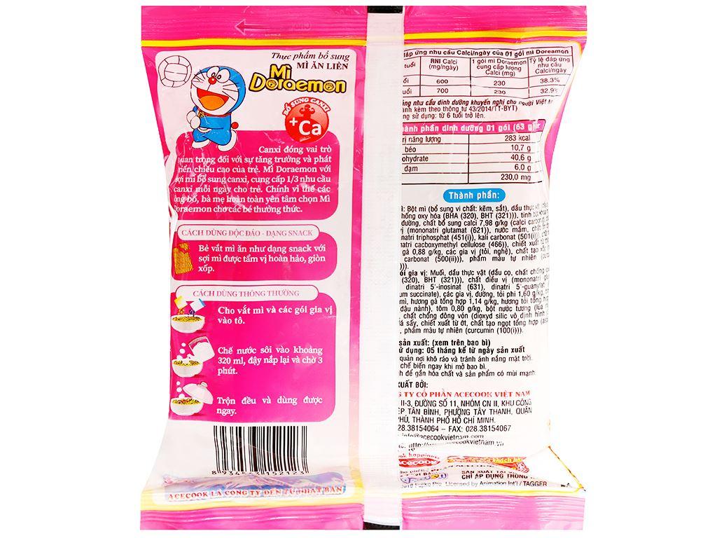 Thùng 30 gói mì Doraemon tôm gà tỏi phi 63g 6