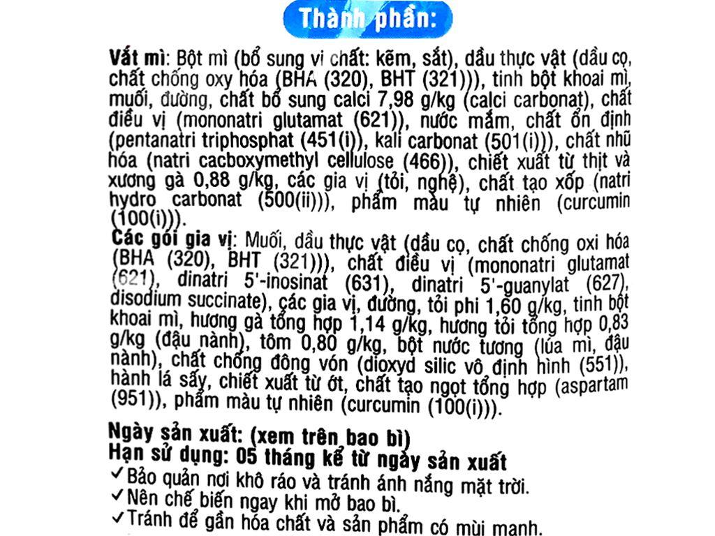 Thùng 30 gói mì Doraemon tôm gà tỏi phi 63g 10