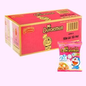 Thùng 30 gói mì Doraemon tôm gà tỏi phi 63g