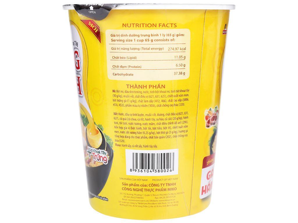 Thùng 24 ly mì khoai tây Cung Đình gà hầm 65g 7