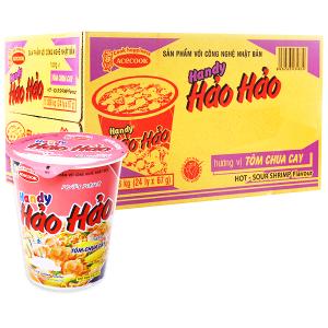 Thùng 24 ly mì Handy Hảo Hảo tôm chua cay 67g