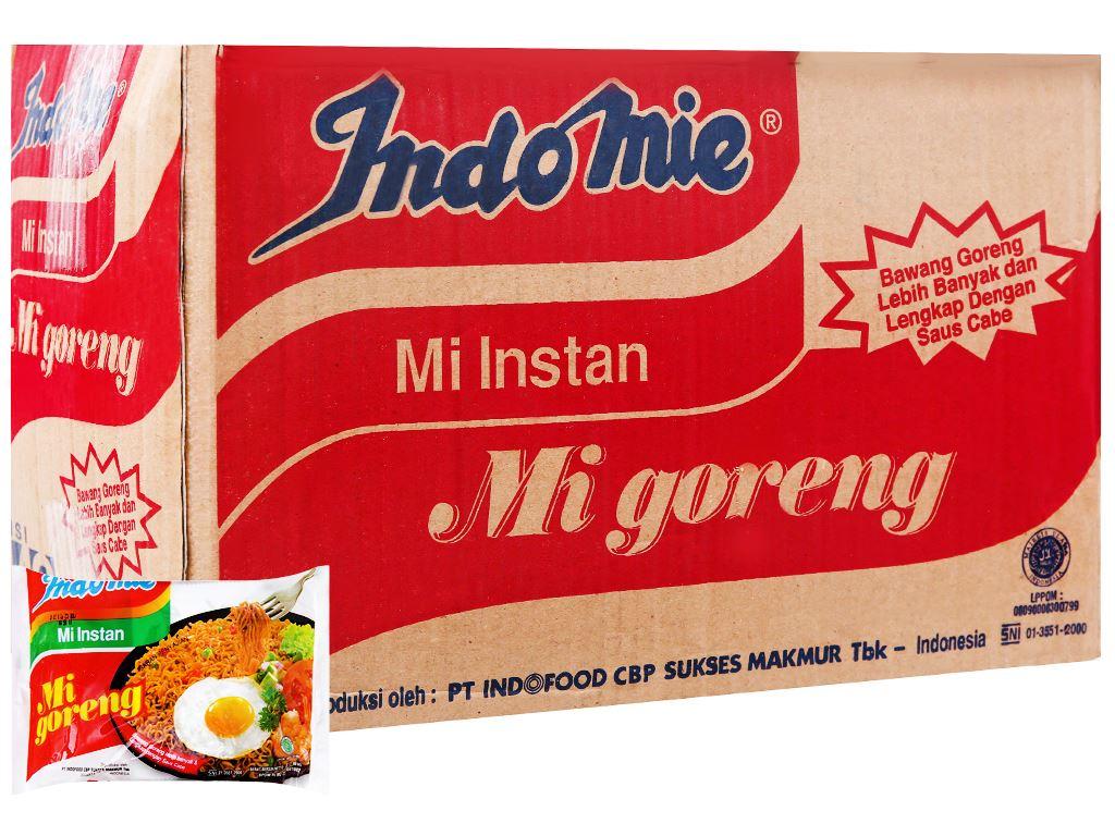 Thùng 40 gói mì xào khô Indomie Mi Goreng vị đặc biệt 85g 1