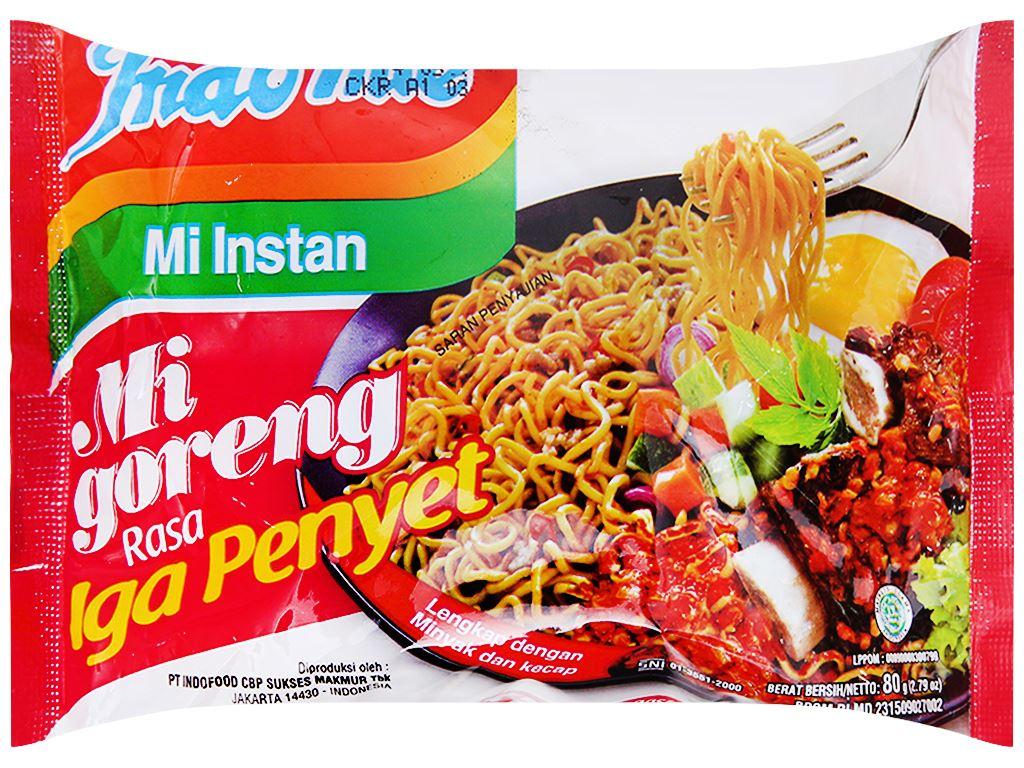 Thùng 40 gói mì xào khô Indomie Mi Goreng Rasa Iga Penyet vị sườn 80g 2