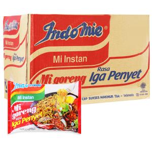 Thùng 40 gói mì xào khô Indomie Mi Goreng Rasa Iga Penyet vị sườn 80g