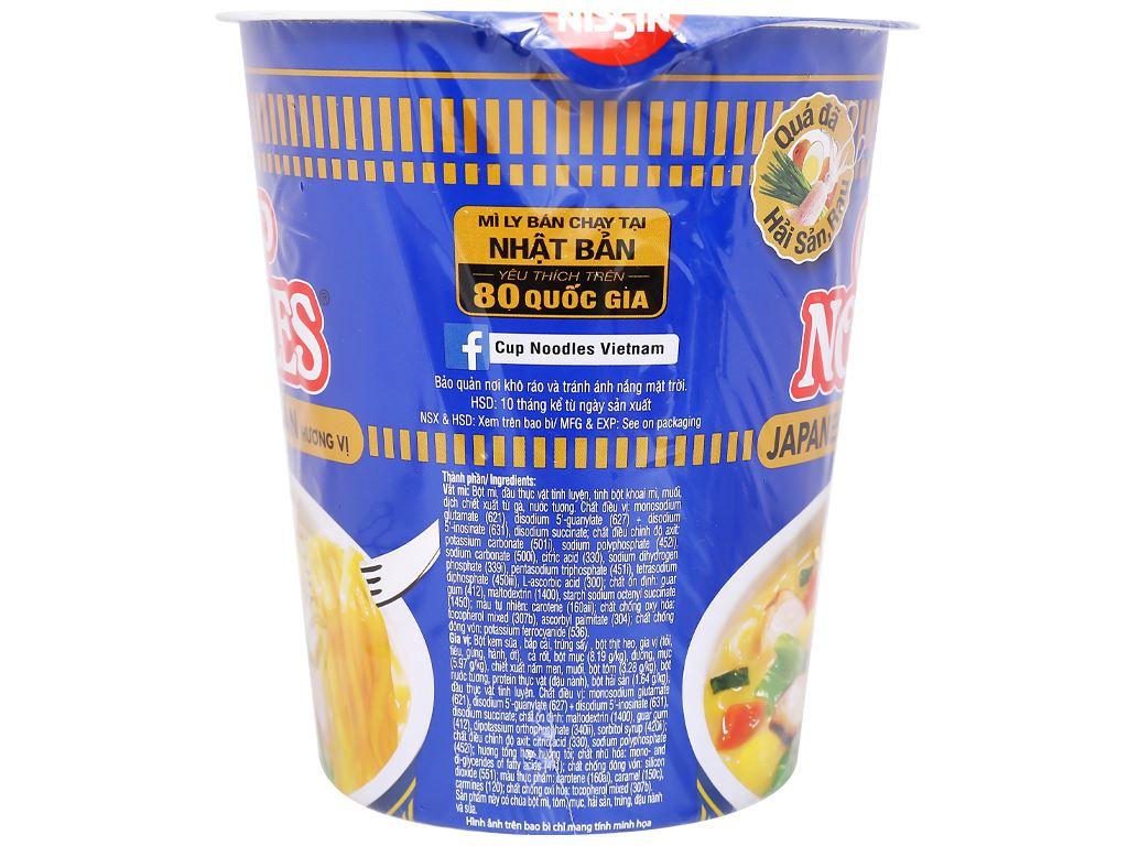 Mì Nissin hải sản Nhật Bản ly 67g 6
