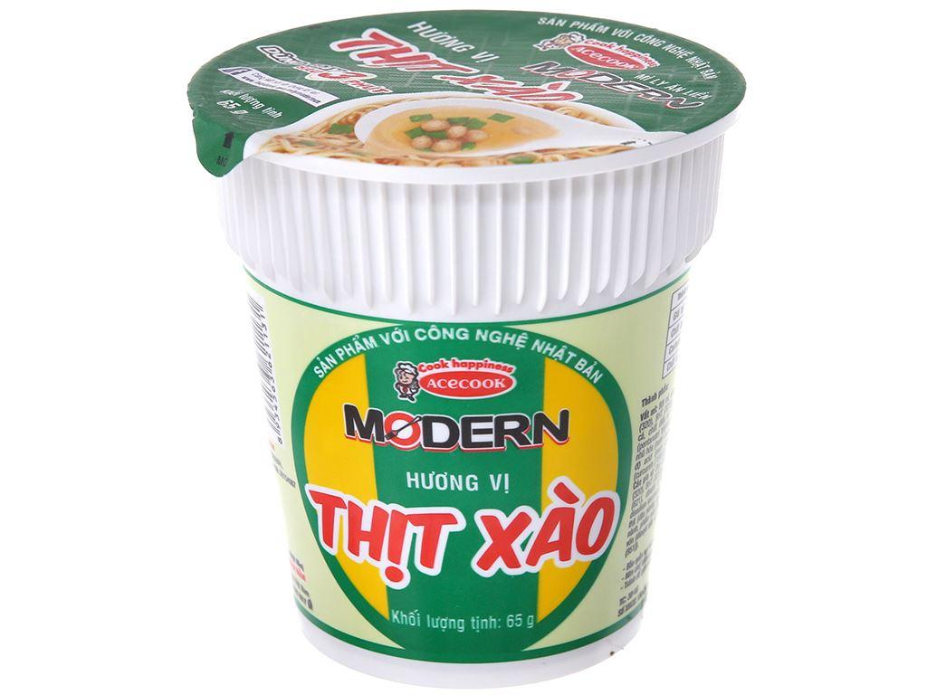 Thùng 24 ly mì Modern thịt xào 65g 3